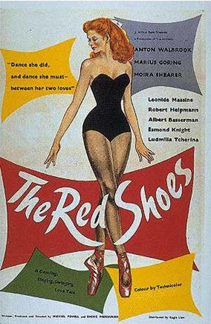 """Poster art for """"The Red Shoes."""""""