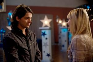 "Thomas McDonell and Aimee Teegarden in ""Prom."""