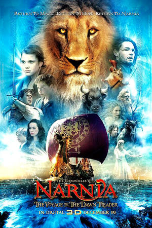 """Poster art for """"Chronicles of Narnia: the Voyage of the Dawn Treader 3D"""""""