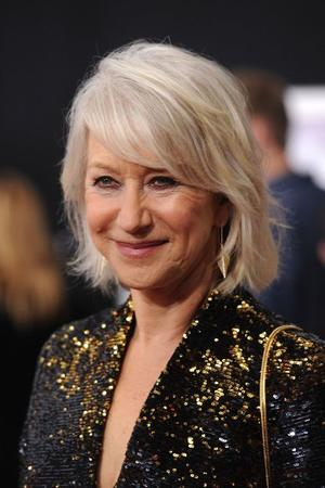 "Helen Mirren at the California premiere of ""The Tempest (2010)."""