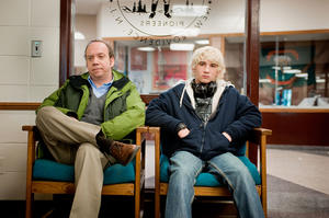 "Paul Giamatti and Alex Shaffer in ""Win Win."""