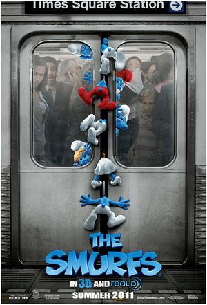 """Poster art for """"Smurfs."""""""