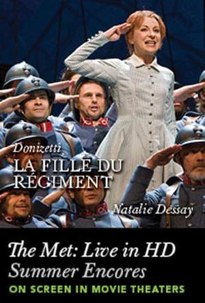 "Poster art for ""The Met Summer Encore: La Fille du Regiment."""