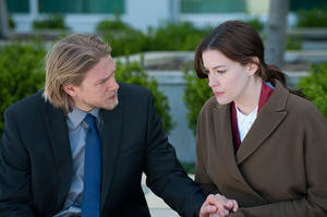 "Charlie Hunnam as Gavin and Liv Tyler as Shauna in ""The Ledge."""