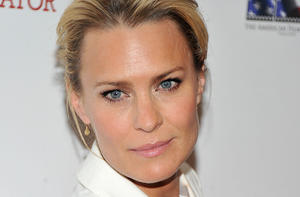 "Robin Wright at the New York premiere of ""The Conspirator."""