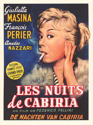 """Poster art for """"Nights of Cabiria."""""""