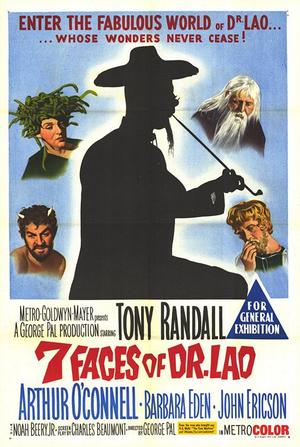 "Poster art for ""7 Faces of Dr. Lao."""