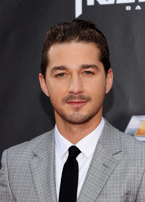 "Shia LaBeouf at the New York premiere of ""Transformers: Dark of the Moon."""