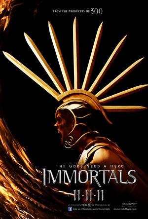 """Poster art for """"Immortals."""""""