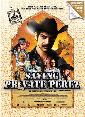 "Poster art for ""Saving Private Perez."""