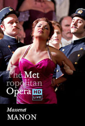"Poster art for ""The Metropolitan Opera: Manon Encore."""
