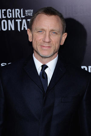 "Daniel Craig at the New York premiere of ""The Girl With The Dragon Tattoo."""