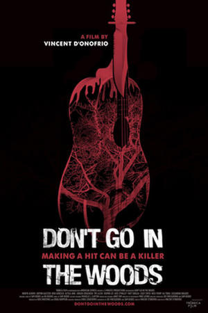 """Poster art for """"Don't Go in the Woods."""""""