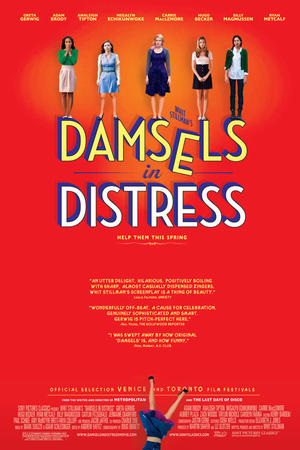 """Poster art for """"Damsels in Distress."""""""