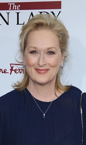 "Meryl Streep at the New York premiere of ""The Iron Lady."""