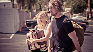 "Kristen Bell and Dax Shepard in ""Hit and Run."""