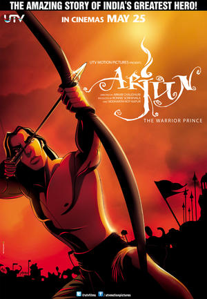 "Poster art for ""Arjun: The Warrior Prince."""