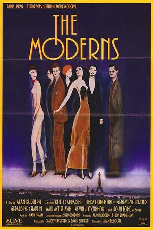 "Poster art for ""The Moderns."""