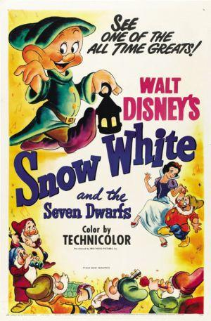 "Poster art for ""Snow White and the Seven Dwarves."""
