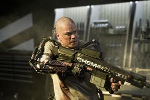 "Matt Damon in ""Elysium."""