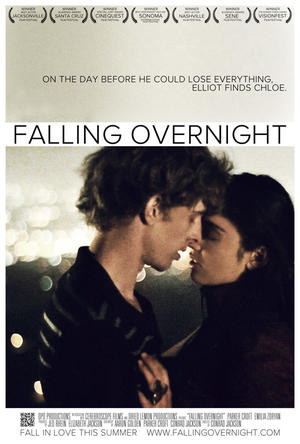 """Poster art for """"Falling Overnight."""""""