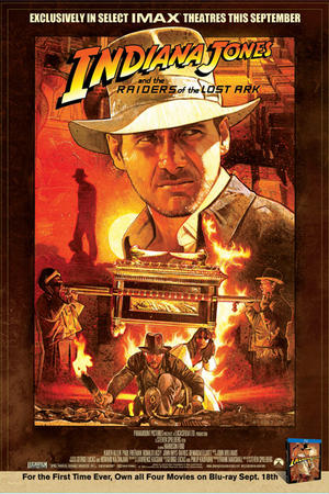 "Poster art for ""Raiders of the Lost Ark: The IMAX Experience."""