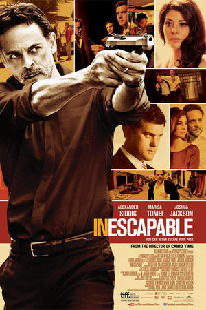 "Poster art for ""Inescapable."""