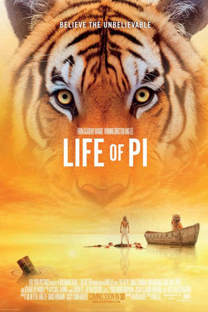 "Poster art for ""Life of Pi 3D."""