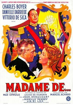 "Poster art for ""The Earrings of Madame De..."""
