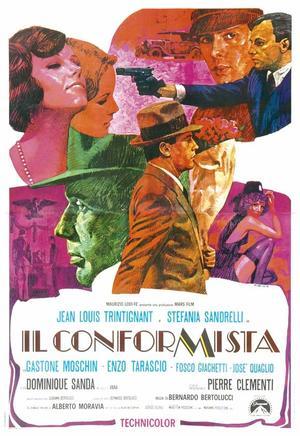 "Poster art for ""The Conformist."""