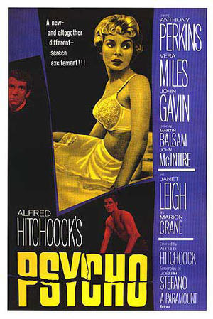 "Poster art for ""Psycho."""