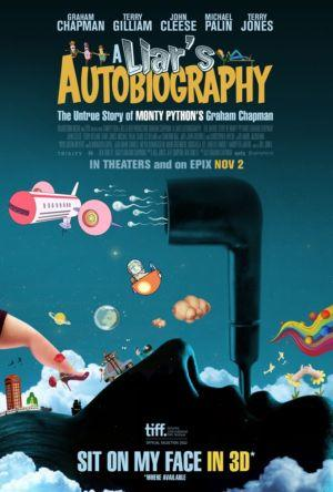 """Poster art for """"A Liar's Autobiography - The Untrue Story of Monty Python's Graham Chapman - in 3D."""""""