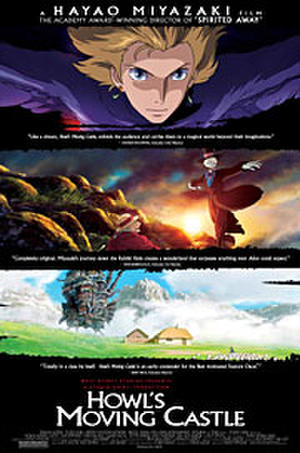 "Poster art for ""Howl's Moving Castle."""