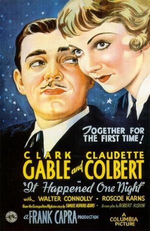 "Poster art for ""It Happened One Night."""