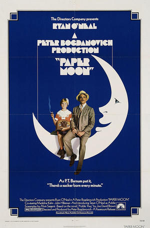 """Poster art for """"Paper Moon."""""""