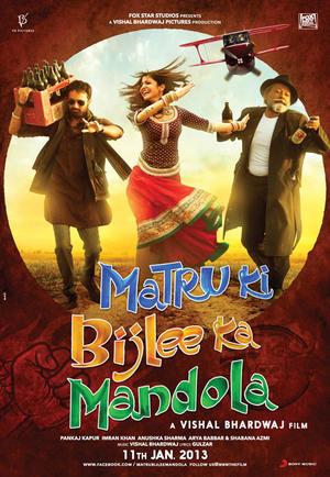 """Poster art for """"Matru ki Bijlee ka Mandola."""""""