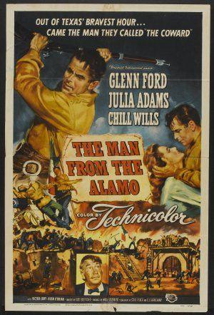 """Poster art for """"The Man From the Alamo."""""""