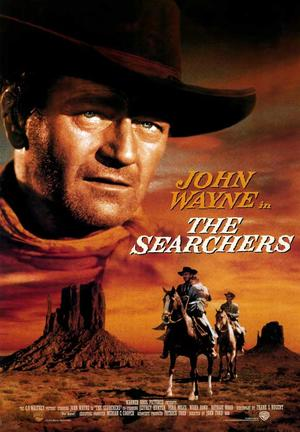 "Poster art for ""The Searchers."""