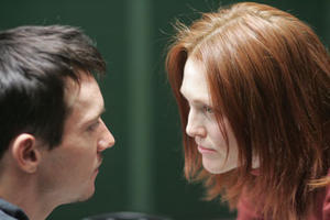 "Jonathan Rhys-Meyers and Julianne Moore in ""6 Souls."""