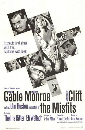 """Poster art for """"The Misfits."""""""
