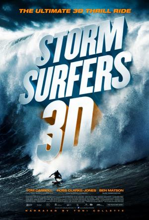 "Poster art for ""Storm Surfers 3D."""