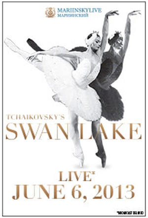 "Poster art for ""Swan Lake Mariinsky Live 2D."""