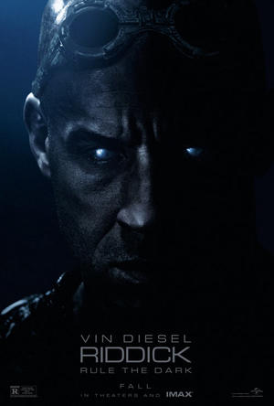 "Poster art for ""Riddick: The IMAX Experience."""