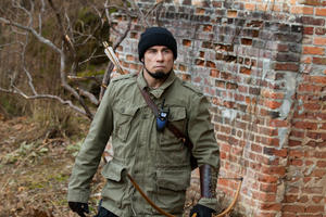 "John Travolta as Emil Kovac in ""Killing Season."""