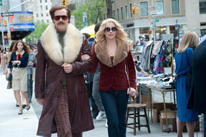 "Will Ferrell as Ron Burgundy and Christina Applegate as Veronica Corningstone in ""Anchorman 2: The Legend Continues."""