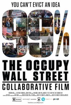 """Poster art for """"99 Percent: The Occupy Wall Street Collaborative Film."""""""