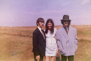 "Ringo Starr, Freda Kelly and George Harrison in ""Good Ol' Freda."""