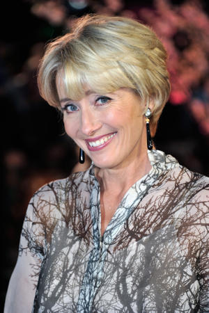 "Emma Thompson at the premiere of ""Saving Mr. Banks"" during the 57th BFI London Film Festival."