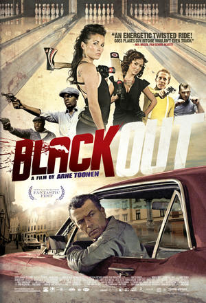 """Poster art for """"Black Out."""""""