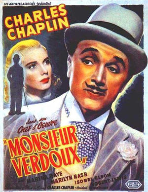 "Poster art for ""Monsieur Verdoux."""